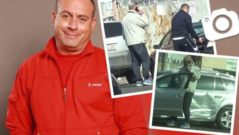 Americanu', implicat într-un accident rutier! Emil Mitrache, surprins în timp ce își pune viața în pericol, în mijlocul intersecției / PAPARAZZI