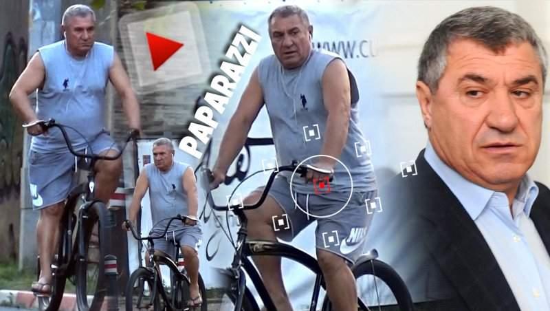 Victor Becali a lăsat bolizii de lux pe o bicicletă! Afaceristul, surprins la plimbare prin oraș! / VIDEO PAPARAZZI
