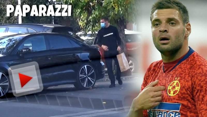 Pentru o porție de mâncare Adi Popa uită de regulile de circulație. Cum a fost surprins fotbalistul! / VIDEO PAPARAZZI