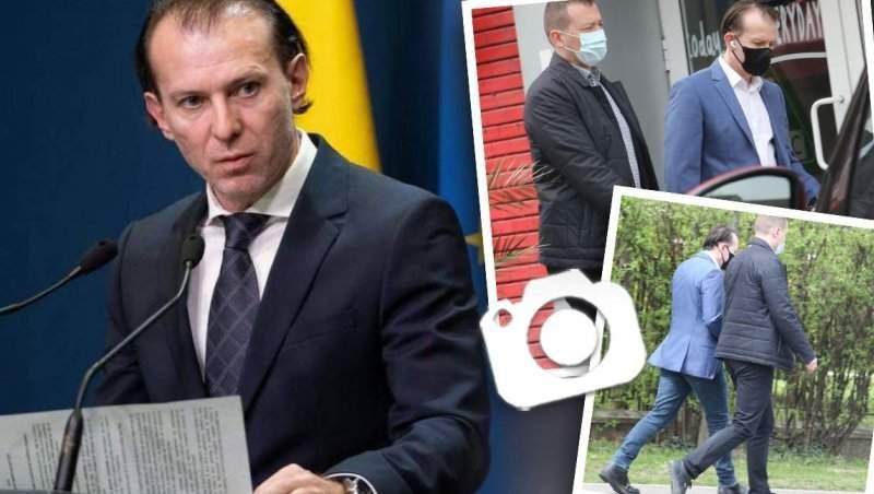 Florin Cîțu, chemat acasă la Klaus Iohannis. Premierul nu s-a grăbit deloc. Știe că mersul pe jos face piciorul frumos / PAPARAZZI