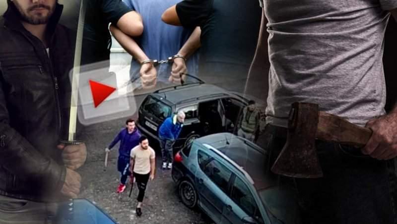 """""""Bombardierii"""" care au atacat o familie cu săbii si topoare, prinși de poliție / Detalii exclusive, din ancheta penală / Unul dintre agresori a depus plângere"""