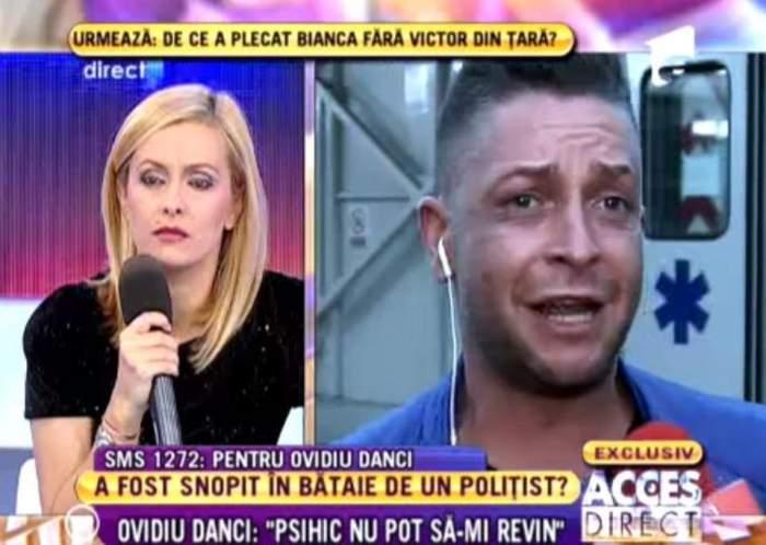 Ovidiu Danci a ajuns la urgenţe după ce a fost snopit în bătaie de poliţişti! Vezi ce i s-a întâmplat! / VIDEO