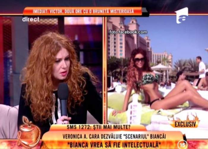 """Veronica A Cara: """"Bianca este un om singur!"""" Uite de ce spune asta confidenta roşcatei"""