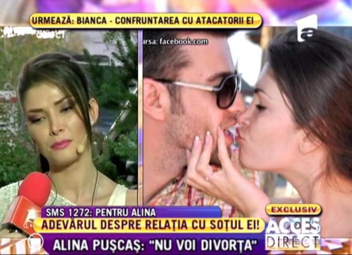 """VIDEO Alina Puşcas vorbeşte despre posibilul divorţul: """"Am decis să ne separăm"""""""
