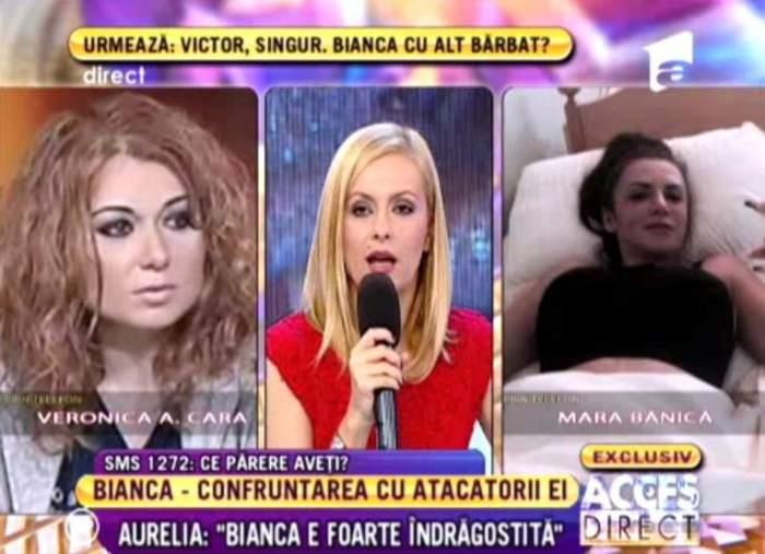 """Bianca """"o loveşte"""", însă Veronica A Cara întoarce şi celălalt obraz: """"Ea a venit cu un crin la emisiune şi o apreciez pentru asta"""""""