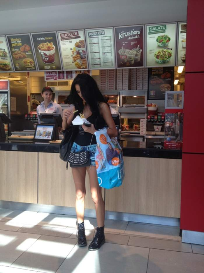 Daniela Crudu rupe fast-food-ul in doua si tot slaba e! Afla cum reuseste acest lucru!