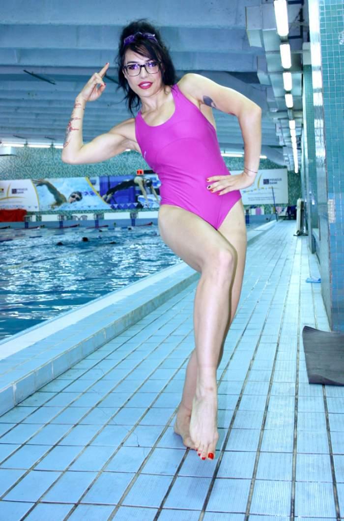 DJ Wanda a luat lecţii de înot
