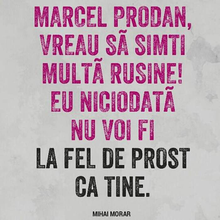 """Mihai Morar îl face praf pe impresarul Alexandrei Stan! """"Marcel Prodan multă ruşine! Niciodată nu voi fi la fel de prost ca tine!"""""""