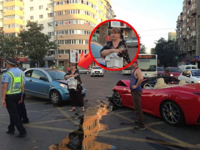 """Reacţia uluitoare a şoferiţei care i-a distrus bolidul lui Minune: """"M-am lovit cu manelistul şi m-a lăsat şi cu sânii pe afară!''"""