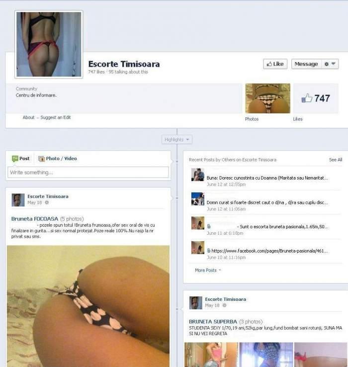 Cea mai veche meserie din lume îşi face reclamă pe Facebook!