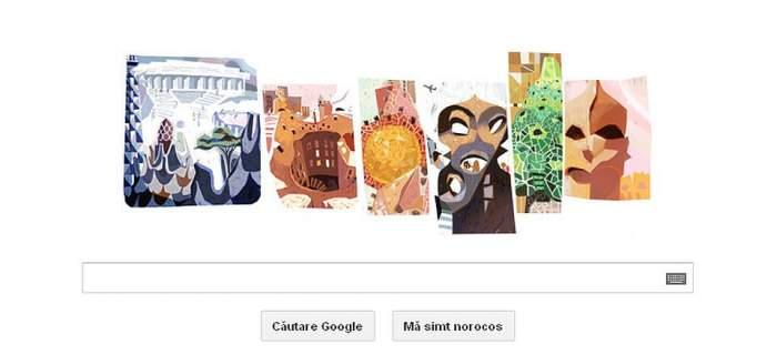 """Google îl sărbătoreşte pe """"arhitectul lui Dumnezeu"""", Antoni Gaudi"""