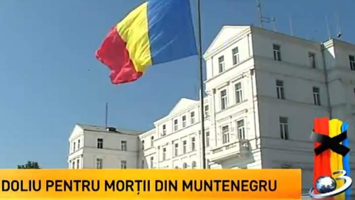 Astăzi e zi de Doliu Naţional!  Drapelul României a fost arborat în bernă!