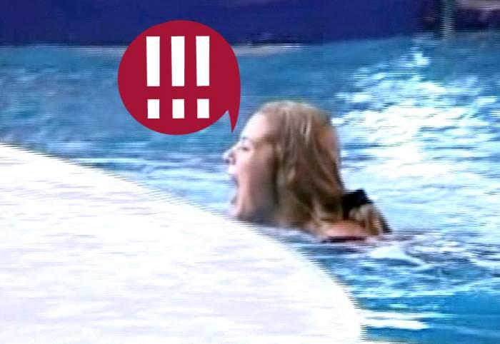 Auch, sânii mei! Roxana Nemeş, la un pas de leşin! A sărit de pe trambulină în piscină şi a păţit-o rău de tot! / Video