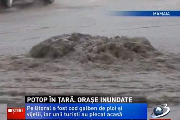 Dezastru după ploi! Veneţia s-a mutat pe litoralul românesc! Uite care au fost cele mai afectate staţiuni!