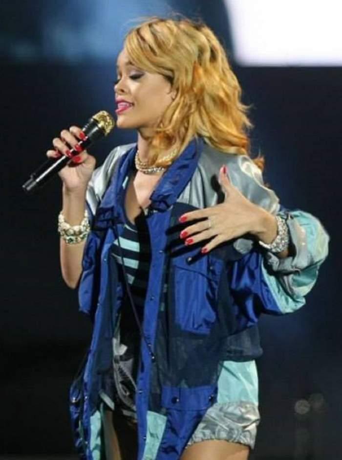 Rihanna, beată moartă la un concert? Uite clipul în care diva abia se poate ţine pe picioare! / Video