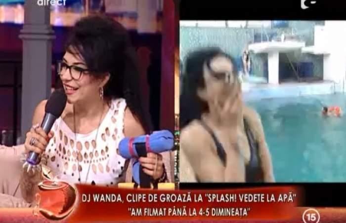 """DJ Wanda habar n-are să înoate! A trecut prin coşmarul vieţii ei la filmările de la """"Splash, vedete la apă"""""""