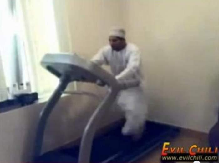 Un arab la sală face senzaţie pe banda de alergat!  / Video