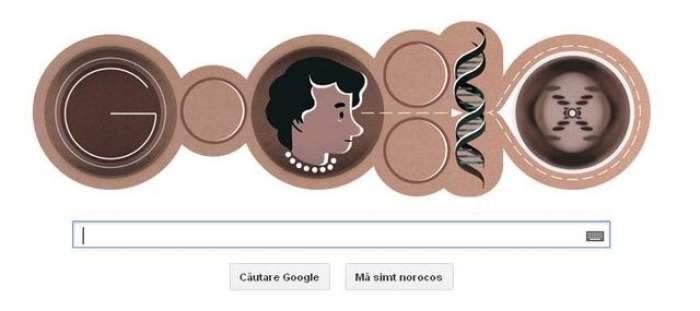 Google o sărbătoreşte pe cercetătoarea Rosalind Franklin printr-un logo special / Video