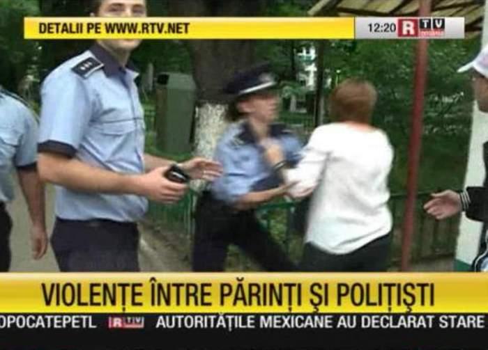 """Bacalaureat 2013 /  Scandal la """"Dimitrie Bolintineanu""""! De la """"Jură-te pe mă-ta că n-ai dat bani"""", la bătaie între poliţişti şi părinţi / Update"""