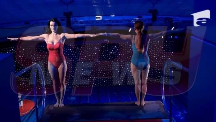 Emilia Ghinescu și Silvia de la Vegas au făcut un duet direct în piscină