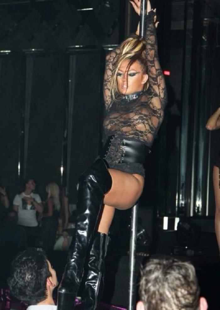 Larisa Bercea, goală pe internet! Dansatoarea la bară se vrea actriţă porno? / FOTO