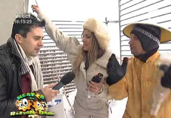 VIDEO Roxana Ionescu fumează narghilea în zăpadă! Vezi ce bine o duce vedeta în mijlocul iernii