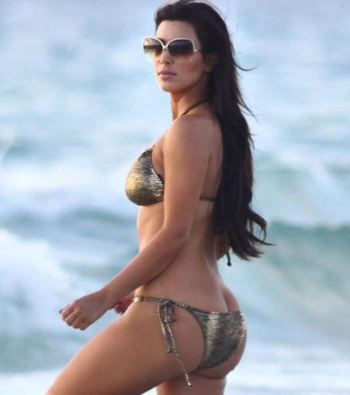 Cândva băga bărbaţii în boală cu fundul ei! După naştere, Kim Kardashian are un posterior lăsat şi deloc apetisant