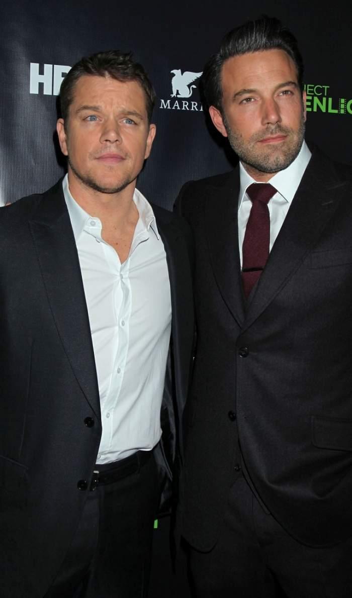 """Mărturisire incredibilă! Actorul Matt Damon adoarme cu """"bărbăţia"""" lui Ben Affleck în gând"""