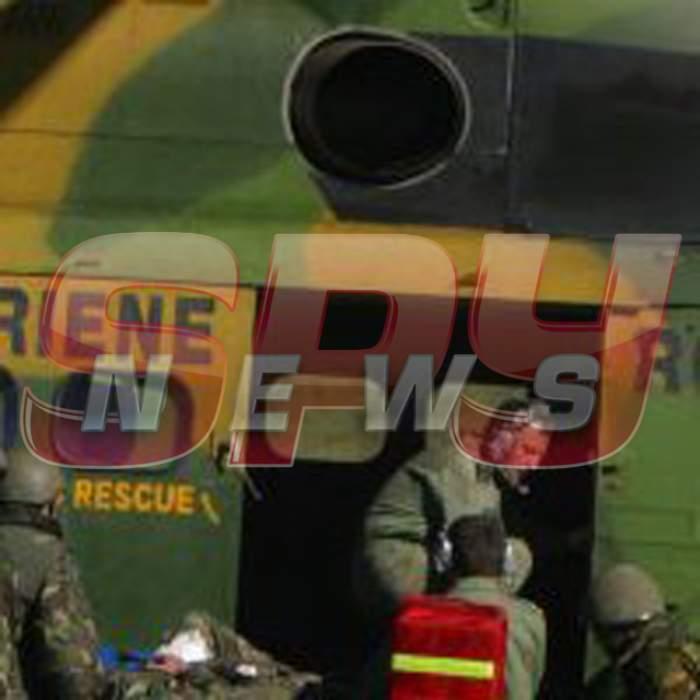 Primele imagini cu unul dintre supravieţuitorii din elicopterul care s-a prăbuşit la Sibiu!