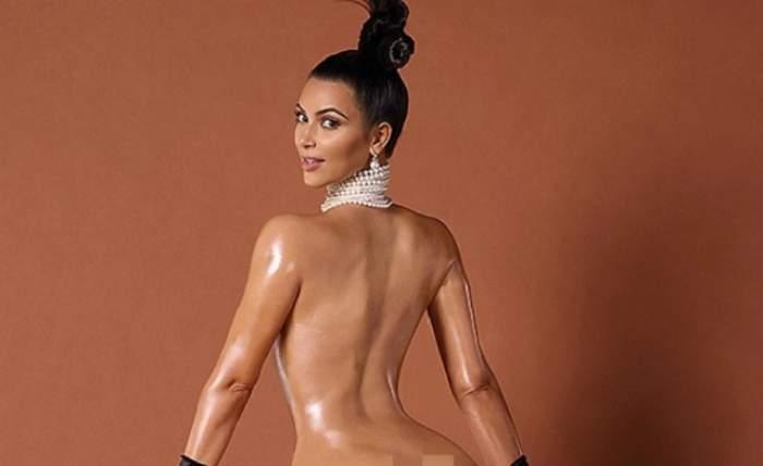 VIDEO / Kim Kardashian continuă să fie ţinta glumelor internauţilor. Şedinţa ei foto nud a ajuns o bătaie de joc