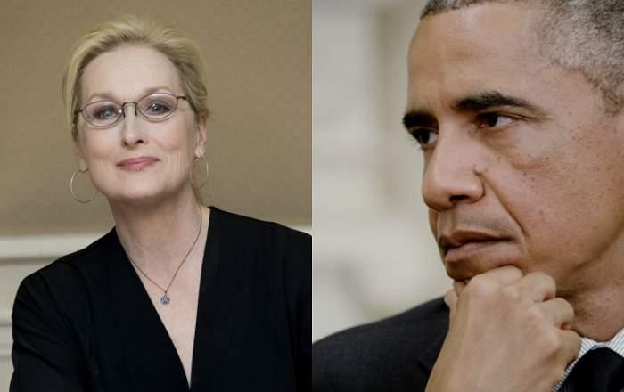 """Declaraţia care a zguduit America! Preşedintele Barack Obama: """"O iubesc pe Meryl Streep"""""""