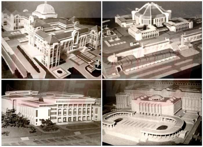 FOTO / Imagini fabuloase! Cum ar fi putut arăta Casa Poporului, dacă Ceauşescu accepta alte propuneri