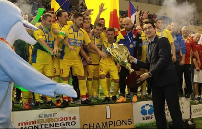 Suntem pe primul loc! Echipa României de minifotbal a câştigat Campionatul European