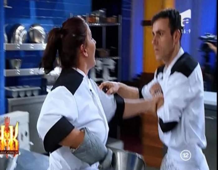 """Doi concurenţi, la un pas de bătaie la """"Hell's kitchen - Iadul Bucătarilor""""!"""