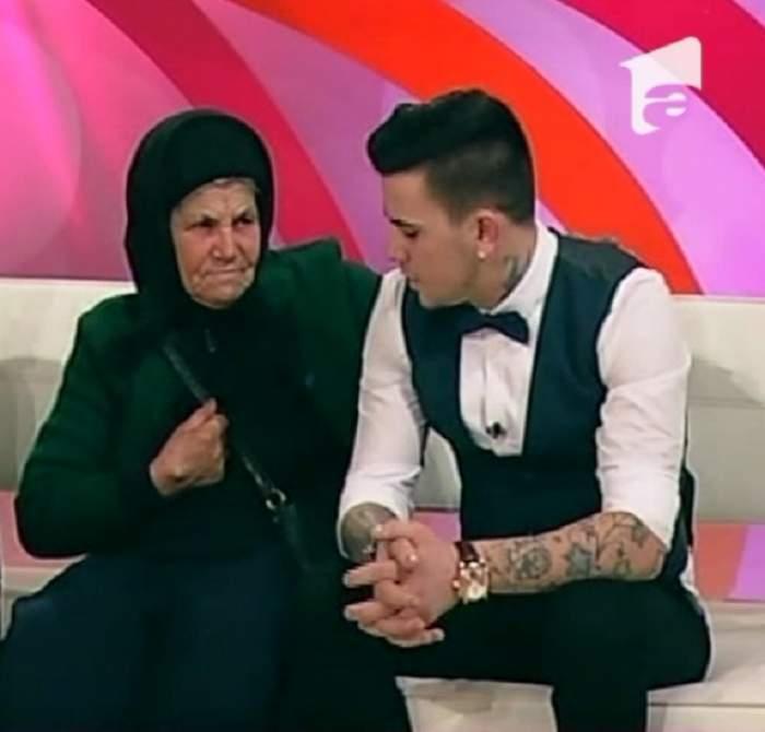 """VIDEO / Cristian de la """"Mireasă pentru fiul meu"""", limbaj agresiv cu bunica sa: """"Lasa-mă d**cu în pace!"""""""