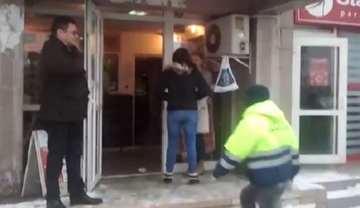 VIDEO / Jaf la un AMANET din Iaşi! Vânzătoarea, ameninţată cu un CUŢIT