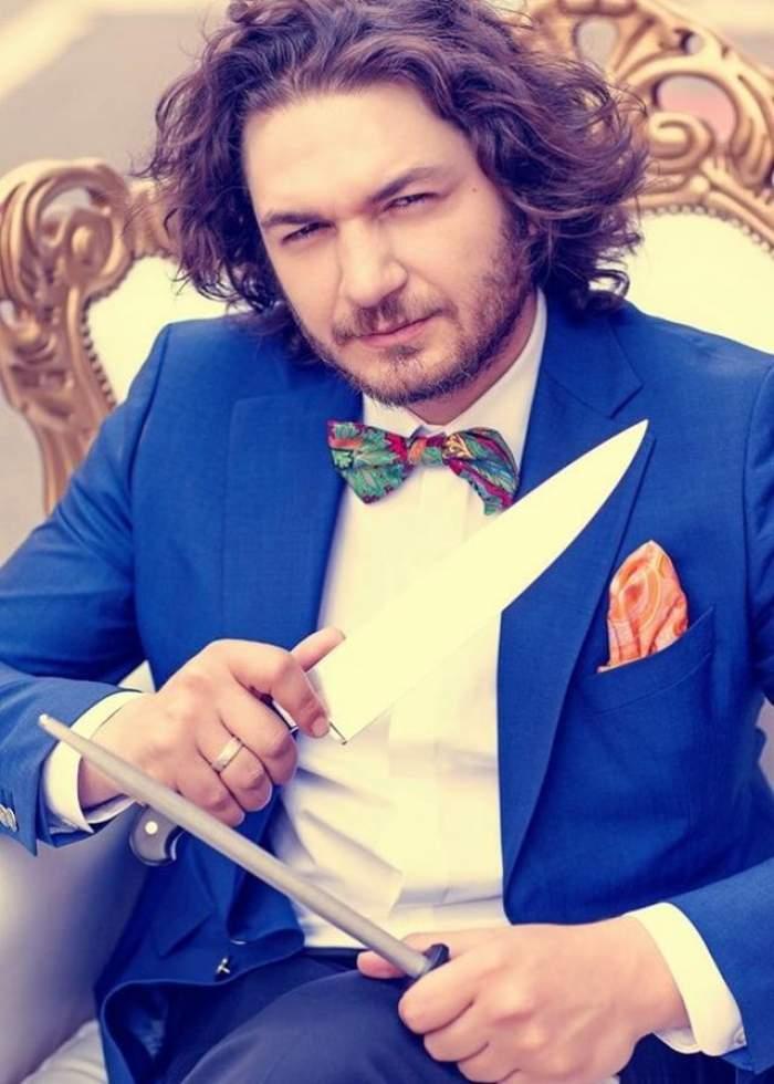 Chef Florin Dumitrescu, servit cu mâncare tăvălită pe jos! Cum a reacţionat celebrul bucătar după ce a gustat mâncarea