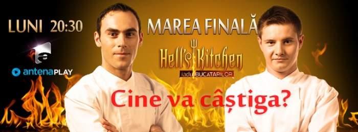 """""""Hell's Kitchen – Iadul Bucătarilor"""" îsi alege câștigătorul pe 22 decembrie! Cătălin și Tavi luptă pentru 80.000 de euro"""