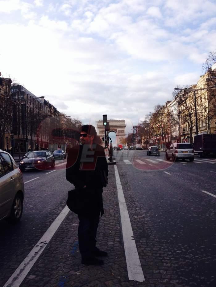 FOTO Am trăit s-o vedem şi pe-asta! Ogică a ajuns la Paris! Uite ce freză afro are pe străzile franţuzeşti