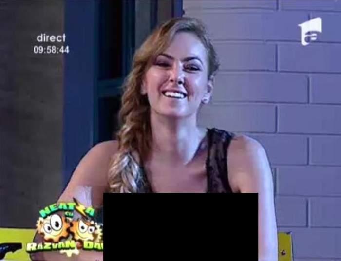 """Roxana Ionescu, luată la rost de Horia Brenciu. Bluza transparentă cu vedere la sâni l-a făcut pe artist să urle: """" Pune-ţi ceva la gâtul ala..."""""""