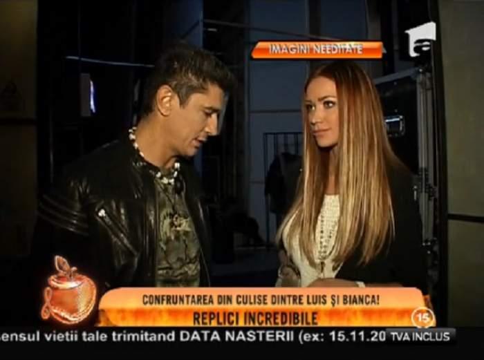 """VIDEO Replici savuroase între Bianca Drăguşanu şi Luis Lazarus! """"I-ai găsit pe ăştia doi şi i-ai făcut varză!"""""""