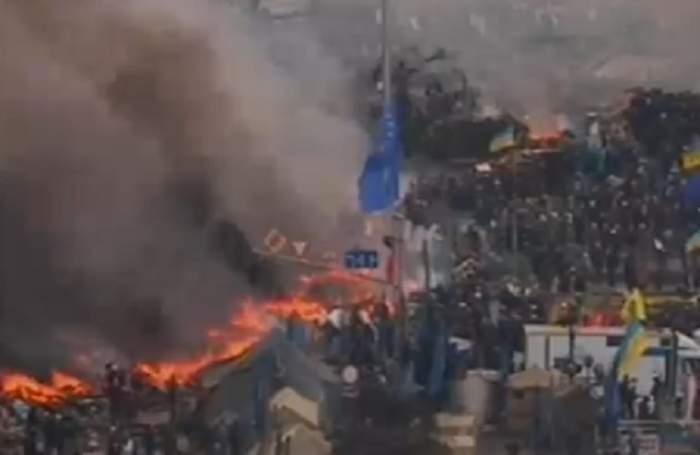 VIDEO Iadul s-a dezlănţuit! Proteste sângeroase în Ucraina! 22 de morţi şi 500 de răniţi