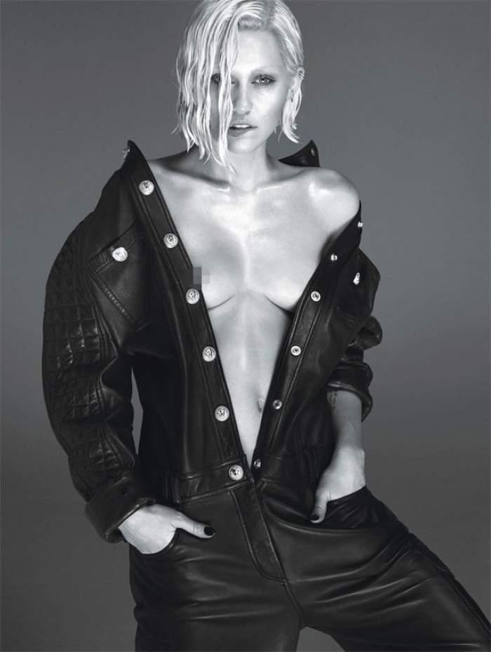 Goală printre aşternuturi şi cu sfârcul la vedere! Uite cum arată noul pictorial al lui Miley Cyrus!