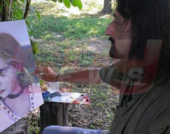"""Imaginea care a emoţionat până la lacrimi familia Aurei Ion! Un artist din Iaşi a pictat momentul în care """"îngerul fără aripi"""" se ridica la cer!"""