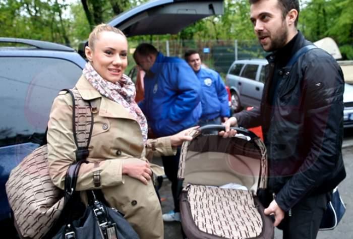 Oana Ioniţă lansează o nouă fiţă! Proaspăta mămică şi-a dus bebeluşul acasă cu bodyguarzii!
