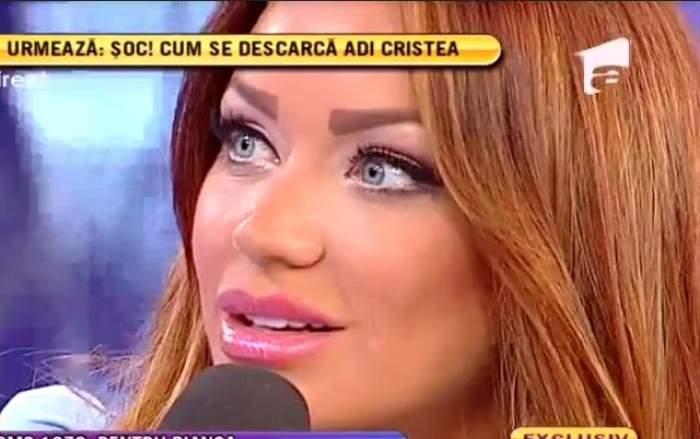 """VIDEO Bianca îi dă replica lui Cristea: """"Dacă eu sunt o femeie care s-a lăsat preş, atunci el a rămas cu preşul în cap"""""""