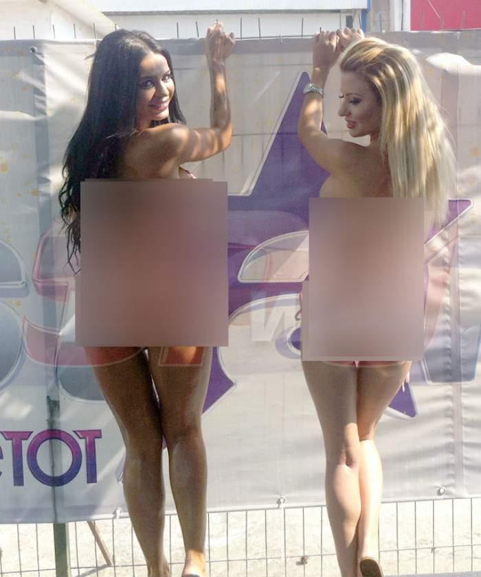 FOTO EXCLUSIV Renata Gheorghe şi Denisa Biţă, ude, cu posterioarele bombate la înaintare!