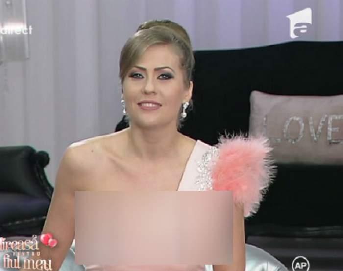 """Cu ce decolteu s-a afişat Mirela Boureanu Vaida la """"Mireasă pentru fiul meu""""! Uite ce sexy este"""