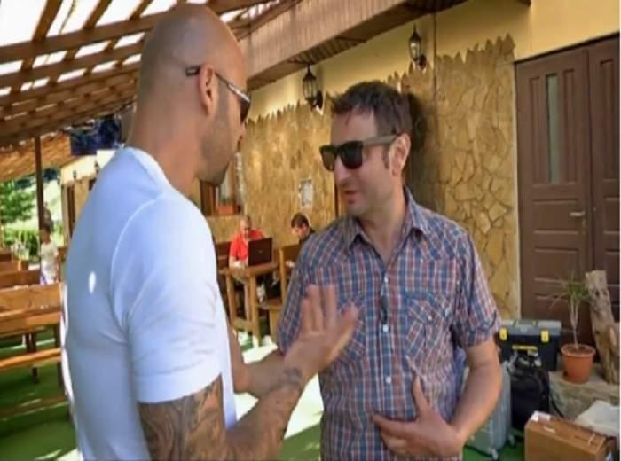 """VIDEO Giani Kiriţă, la un pas de bătaie cu patronul unei pensiuni! """"Bă, eşti nebun sau ai praf de puşcă-n c...?"""""""