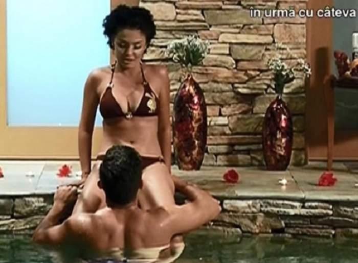 """Pasiunea a atins cote alarmante, la """"Burlăciţa""""! Sorin i-a oferit Andreei Mantea un adevărat show erotic!"""